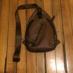 Brown crossbody satchel